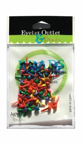 Eyelets Outlet Round Brads - Brights Assortment - Summer