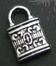Key - Silver Detailed Small Pad Lock Charm - Small