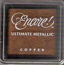 "Tsukineko Encore! Ultimate Metallic Small Ink Pad Copper 1"" Cube"