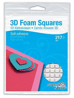 3L Scrapbook Adhesives 3D Foam Squares Assort. White 217 pcs.