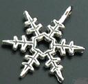 Snowflake Charm - Pointed - Silver