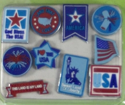 Around the Block Soft Brads - Patriotic & 4th of July Brads