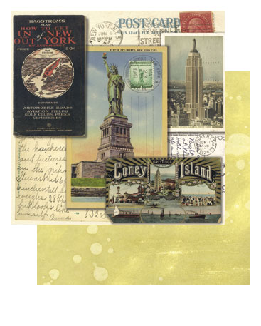 "Tim Holtz 9"" x 9"" Cardstock - New York"
