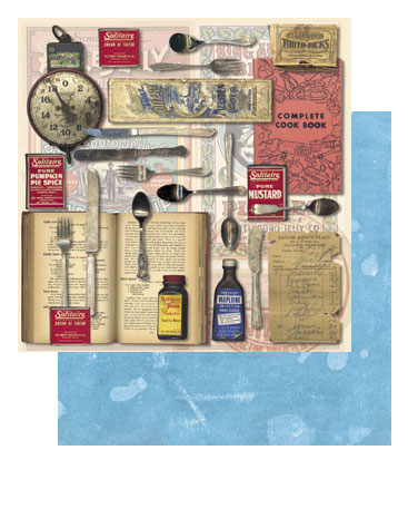 "Tim Holtz 9"" X 9"" Cardstock - What's Cookin'"