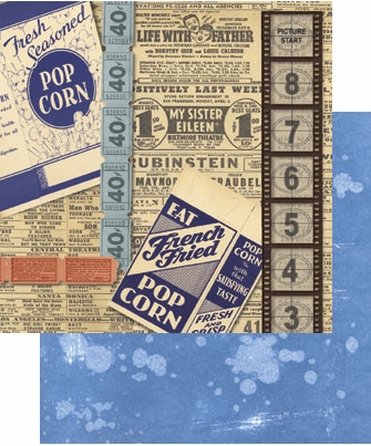 "Tim Holtz 9"" x 9"" Cardstock - At the Movies"