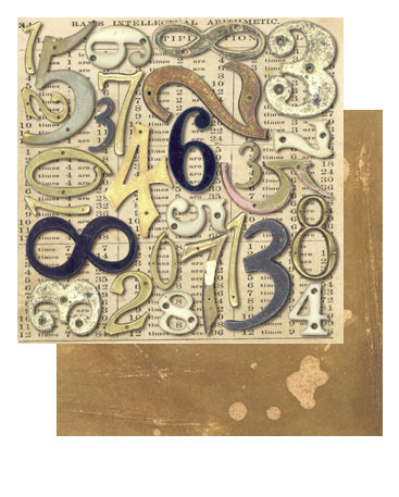 "Tim Holtz 9"" X 9"" Cardstock - House Numbers"