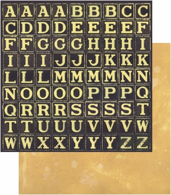 "Tim Holtz 9"" X 9"" Cardstock - Alpha Blocks"