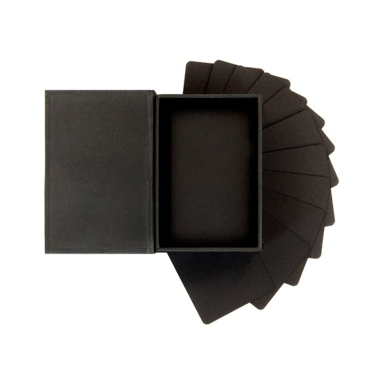 *NEW Prima Marketing ATC Card Box w/ 52 Blank Black Cards