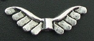 Angel Wings - Silver 10 Feathered Winged Bead Charm