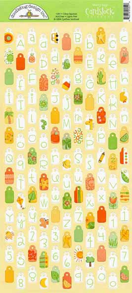 Doodlebug Designs Teeny Tag Stickers - Citrus Squeeze