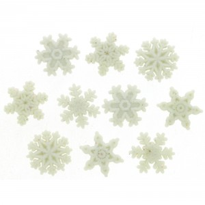 Dress It Up Glitter Snowflake Buttons
