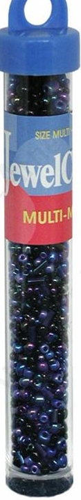 Jewelcraft Multi-Mix Glass Beads - Midnight