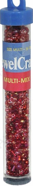 Jewelcraft Multi-Mix Glass Beads - Red