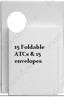 15 sets of Foldable ATC Cards with Envelopes by Paper Accents
