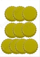 Paper Accents Bottle Caps - 10 Yellow Bottle Caps