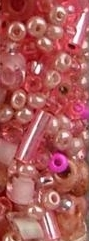 John Bead Craft Bead Glass Mix Pink 20g Tube