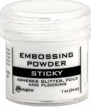 Ranger Sticky Clear Embossing Powder - Great for glitter!