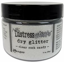 *NEW Ranger Stickles Dry Glitter - Clear Rock Candy Lg. 3 oz.