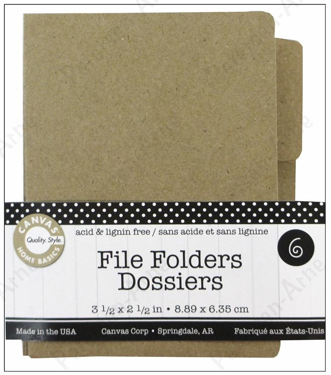 Canvas Corp. Small Naked ATC File Folders - Kraft