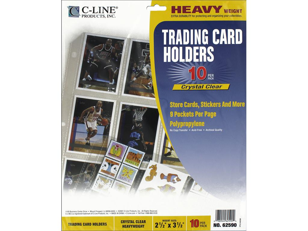 C-Line Artist Trading Card Clear Page Protector Holder - 10 Pgs.