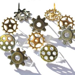 Eyelet Outlet Gear Brads - Great gears for Steampunk Art