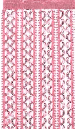 German Foil (Dresden) Paper/Scrap Mini Scalloped Borders - Pink
