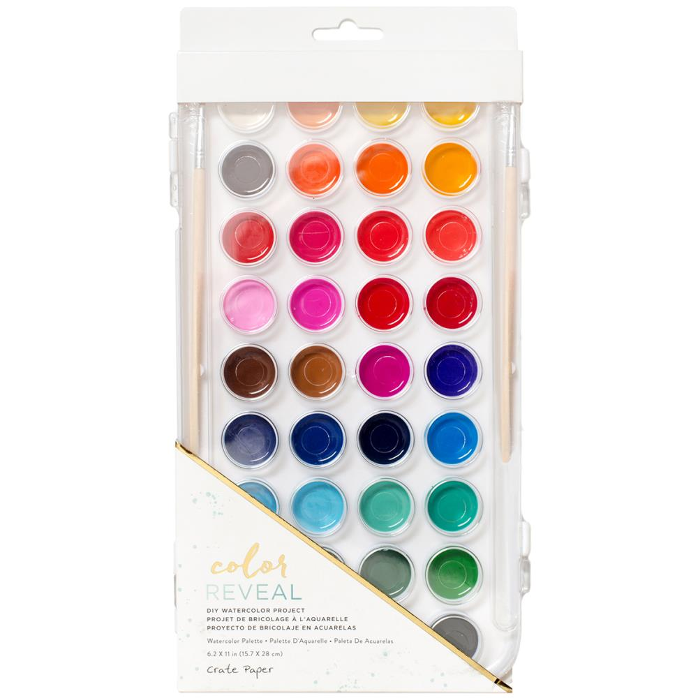 Crate Paper Color Reveal Watercolors - 36 Colors