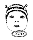 Catslife Press Unmounted Rubber Stamp - Baby Bug Face