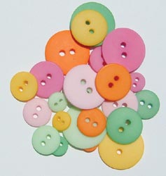 Doodlebug Designs, Inc. Matte Buttons - Popsicle Assort.