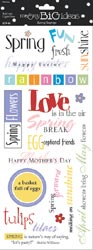Me & My Big Ideas Spring Sayings Clear Colorful Stickers
