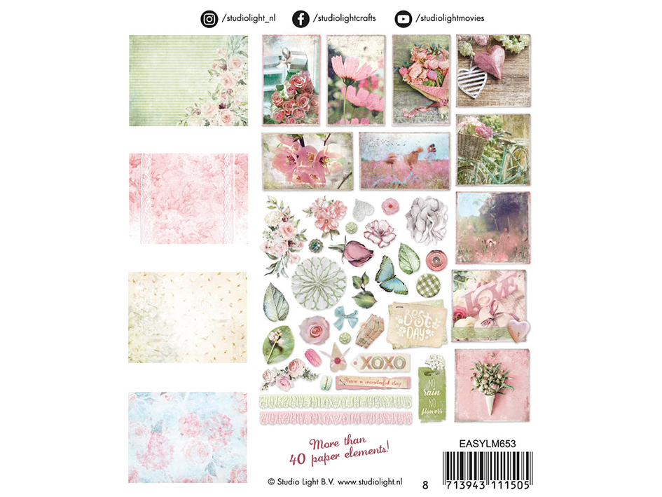Studio Light Die Cut Paper Elements Set – Lovely Moments 653
