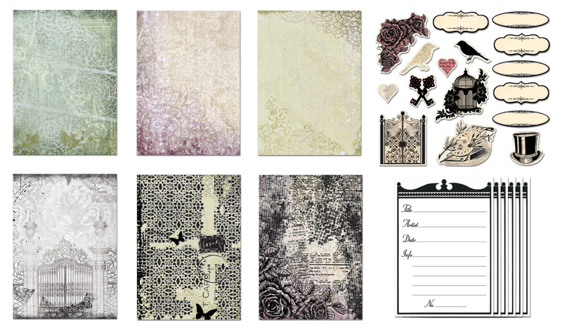 Creative Imaginations Life as Art ATC Kit Pack