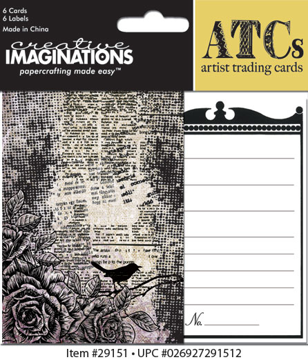Creative Imaginations Life as Art ATCs Printed w/ Varnish