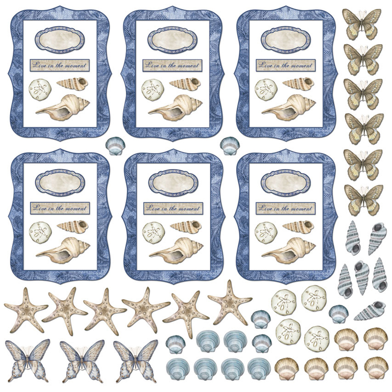Creative Imaginations Oceanside ATC Die-Cut Shapes