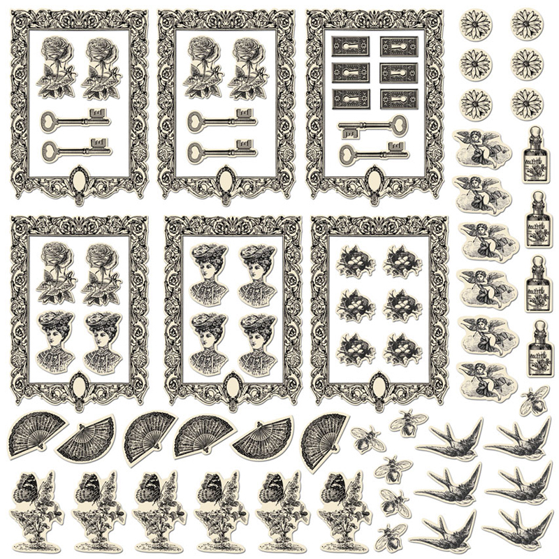 Creative Imaginations Antique ATC Die-Cut Shapes