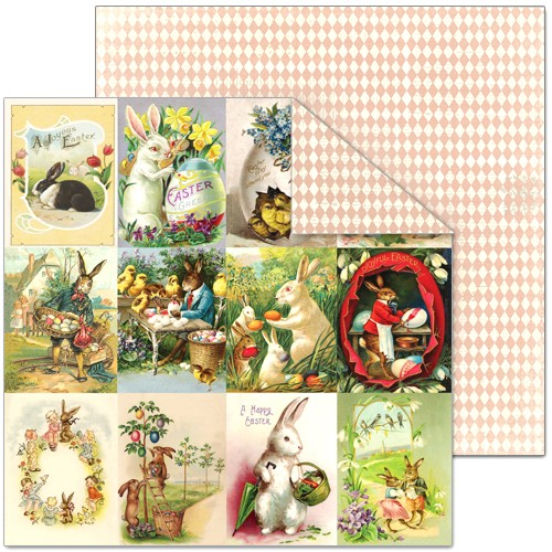 Splash of Color Easter Wishes Cards 12 x 12 Paper