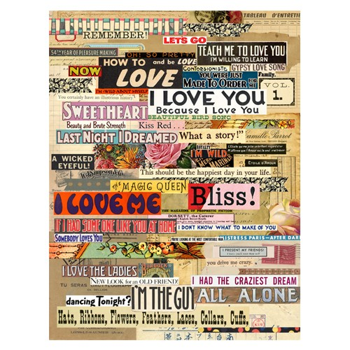 Splash of Color Collage Sheet - Love Foundation