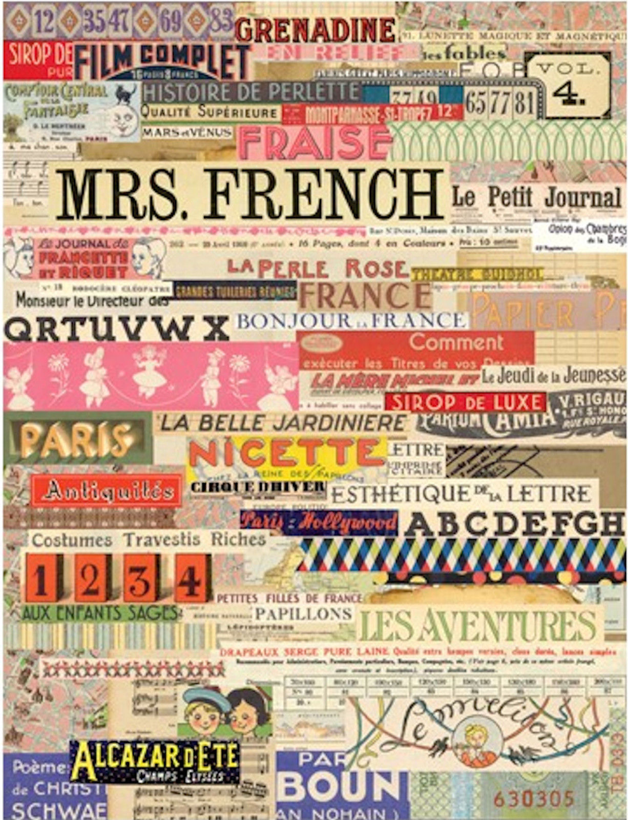 Splash of Color Collage Sheet - French Foundation Ephemera
