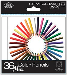 Royal Brush Compact Art Set - 24 MINI Color Pencils