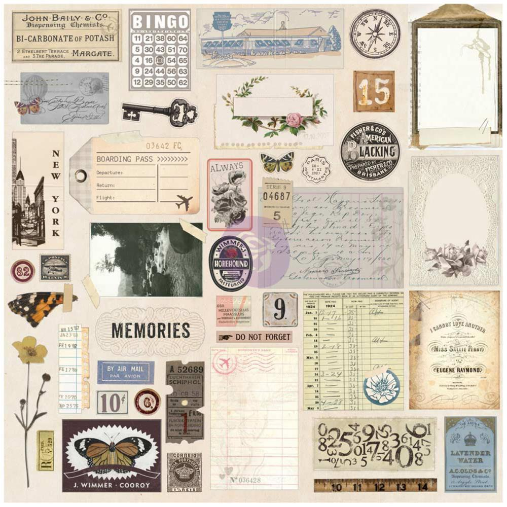 *NEW Prima Traveler's Journal Vintage Ephemera & Sticker Sheets