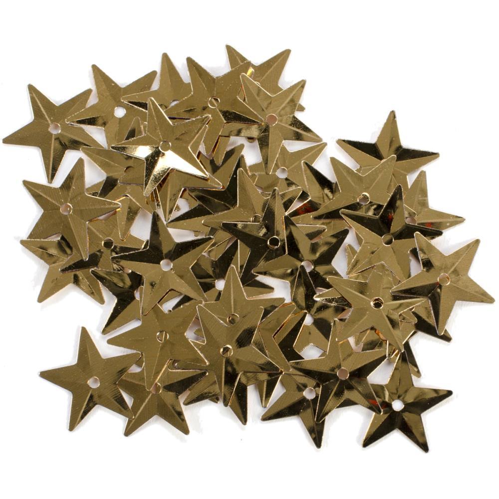 Darice Gold Star Sequins 18mm 50/pkg.