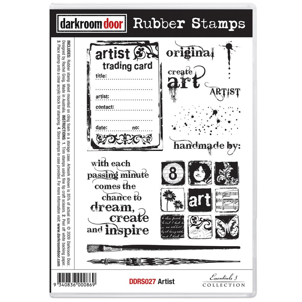 *NEW Darkroom Door Rubber Stamp Set - Artist Trading Card