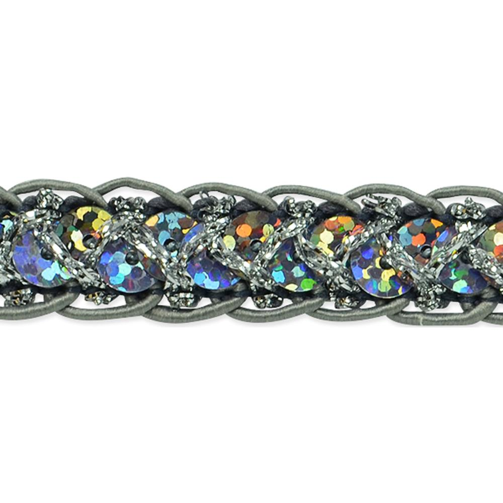 Expo Intl - Thea Braided Sequin Trim 9 ft. x 1/2 in. Roll