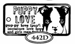 Catslife Press UNMOUNTED Rubber Stamp Domino - Puppy Love