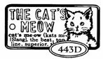 Catslife Press Unmounted Rubber Stamp Domino - Cat's Meow