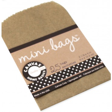 Canvas Corp Mini Kraft Brown Paper Bags for Artist Trading Cards