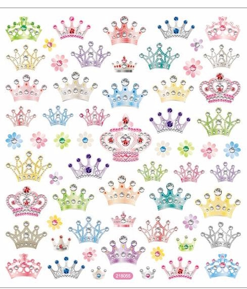 Sticker King Multicolored Stickers - Bejeweled Crowns