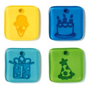 Doodlebug Designs Acrylic Glossy Token Charms - Birthday Boy