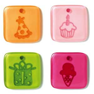 Doodlebug Designs Acrylic Glossy Token Charms Birthday Girl