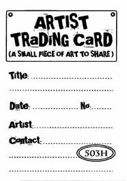 Catslife Press ATC Back UNMOUNTED Rubber Stamp Art to Share